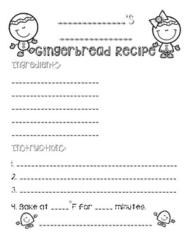 Gingerbread Recipe Book