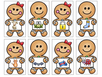 Gingerbread Rhyming Cards