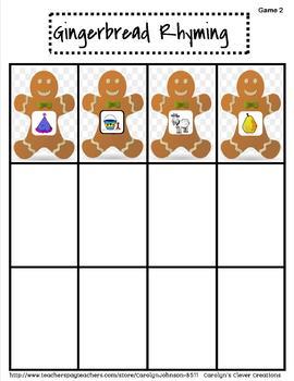 Gingerbread Rhyming Plus