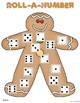 Gingerbread Roll-A-Number {FREEBIE}