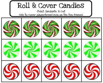 Gingerbread Roll & Cover Ten Frames
