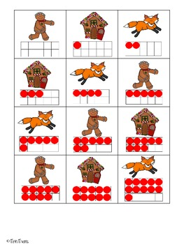 Gingerbread Roll, Say, Keep - Numbers 1-20 and Addition/Subtraction Fluency Game