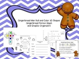 Gingerbread Roll and Color 3D Shapes, Gingerbread Man Glyph plus more