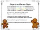 Gingerbread Roll and Color 3D Shapes, Gingerbread Man Glyp