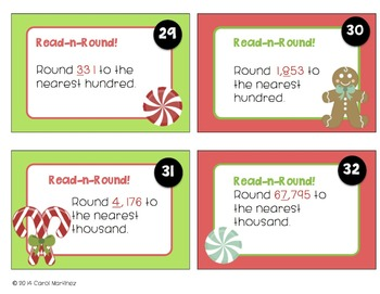Rounding Task Cards {Gingerbread Theme}