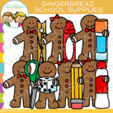 School Supplies Gingerbread Clip Art