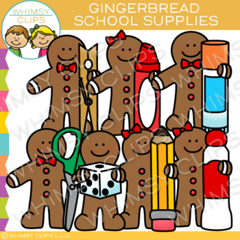 School Supplies Gingerbread Clip Art