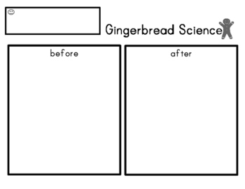 Gingerbread Science Experiment with Recording Sheet Precious Preschoolers