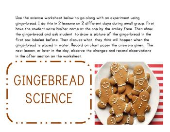 Gingerbread Science Experiment with Recording Sheet Precio
