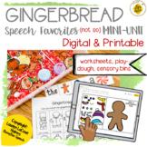Gingerbread Sensory Bin & Play Dough Companion for Speech