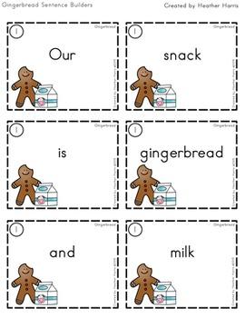 Gingerbread Sentence Builders