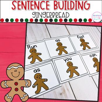 Gingerbread Sentence Scrambles