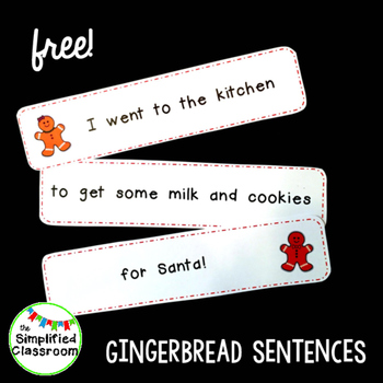 Gingerbread Sentences Literacy Center {FREEBIE!}
