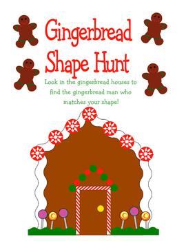 Gingerbread Shape Hunt Game