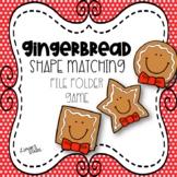 Gingerbread Shape Matching File Folder Game