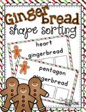 Gingerbread Shape Sorting