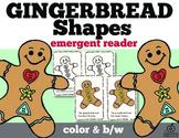 Gingerbread Shapes Emergent Reader