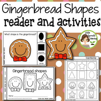 Gingerbread Shapes Emergent Reader and Shape Recognition Activities