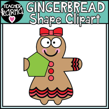 Gingerbread Shapes - Math Clipart