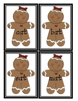 Gingerbread Short A Sort * Word Families