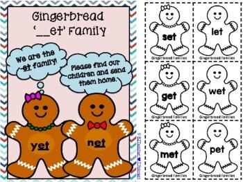 "Gingerbread Short ""e"" Word Families"