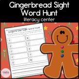 Gingerbread Man Sight Word Hunt Kindergarten Literacy Activity for Christmas