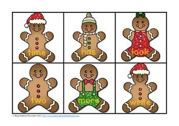 Gingerbread Sight Word Match - Fry List