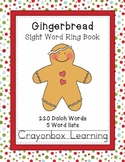 Gingerbread Sight Word Ring Books (5) - 220 Dolch Words