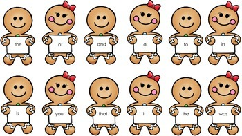 Gingerbread Sight Words