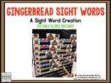 Gingerbread Editable Sight Words
