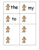 Gingerbread Sight Words Game:  Fountas and Pinnell 25 Words: Catch Me!   RF.K.3c