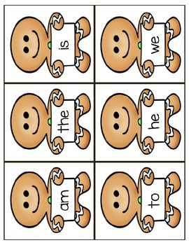 Gingerbread Sight Words - Reading Street Units 1 and 2