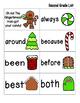 Gingerbread Sight Words! Second Grade List Pack