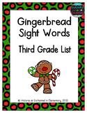 Gingerbread Sight Words! Third Grade List Pack