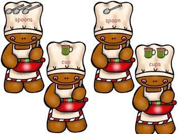 Gingerbread Singular and Plural Noun Sort Center