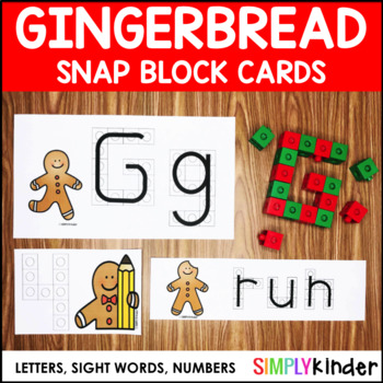 Gingerbread Snap Block Cards Letters Numbers And Sight Words
