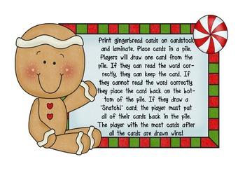 Gingerbread Snatch! Short A CVC game