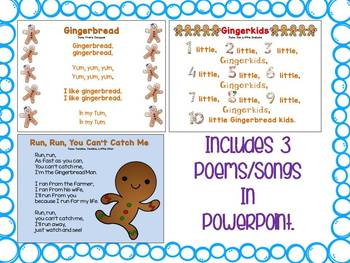 Gingerbread Songs and Poems {Shared Reading}