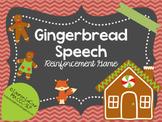 Gingerbread Speech FREEBIE
