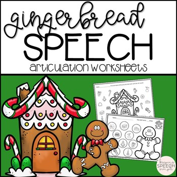 Gingerbread Speech - No Prep Worksheets for Speech Therapy
