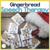 Speech and Language Themed Therapy Unit for Mixed Groups:  GINGERBREAD