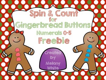Spin and Count for Gingerbread Buttons--FREEBIE!