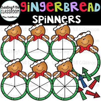 Gingerbread Spinners Clip Art Bundle {Christmas Clip Art}