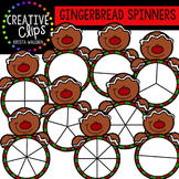 Gingerbread Clipart Spinners {Creative Clips Clipart}