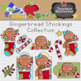 Gingerbread Stockings Clipart Collection