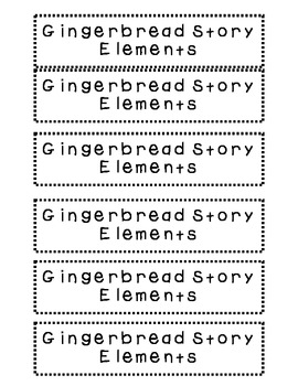 Gingerbread Story Elements Chart Activity