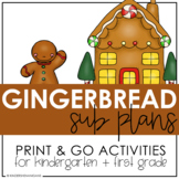 Gingerbread Sub Plans (Kindergarten)