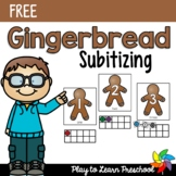 Gingerbread Subitizing - FREE