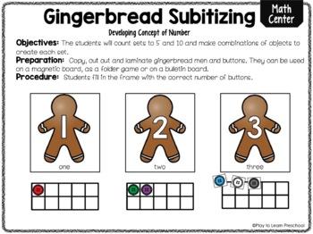 Gingerbread Subitizing - FREE