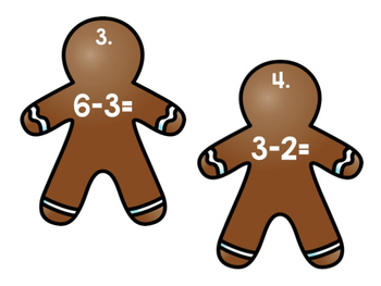 Gingerbread Subtraction Write the Room